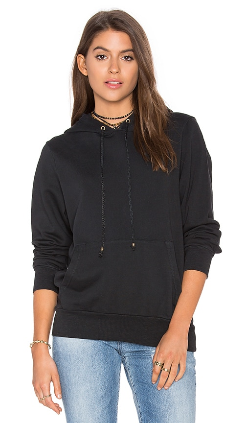 Ragdoll Pull On Hoodie in Black