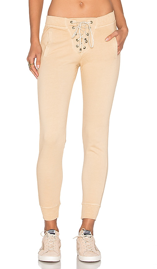 Ragdoll Lace Up Pant in Tan