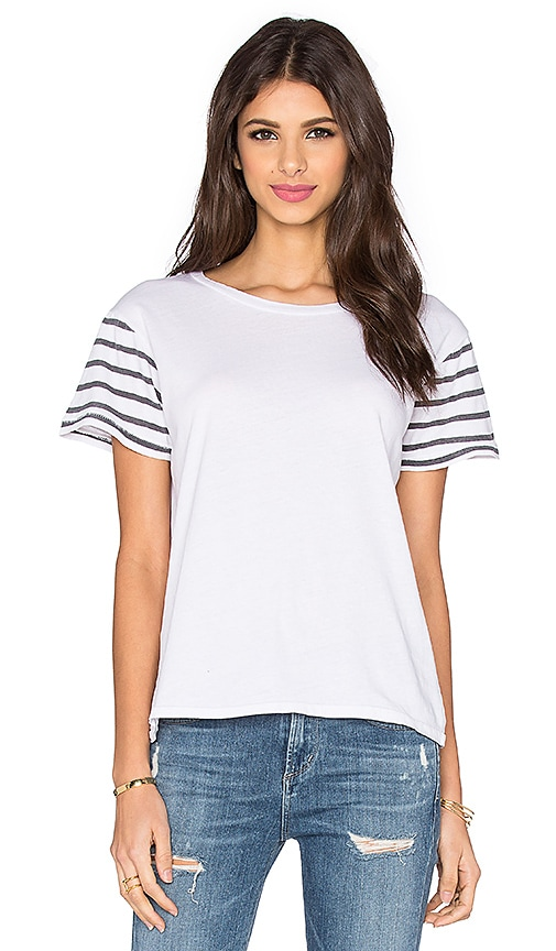 Ragdoll Short Sleeve Stripes Tee in White