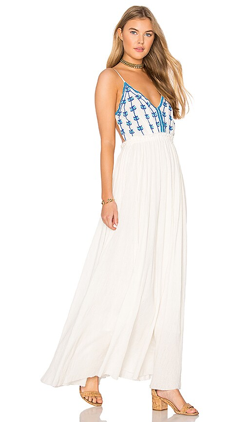 Raga Riptide Backless Maxi Dress in Ivory