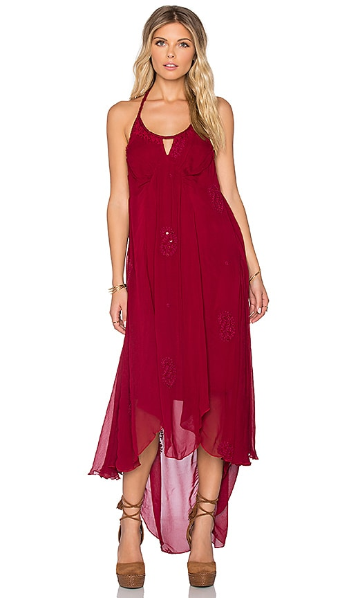 Raga Heart Throb Dress in Burgandy