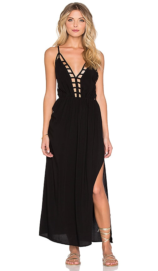 Raga Wild Little Thing Maxi Dress in Black