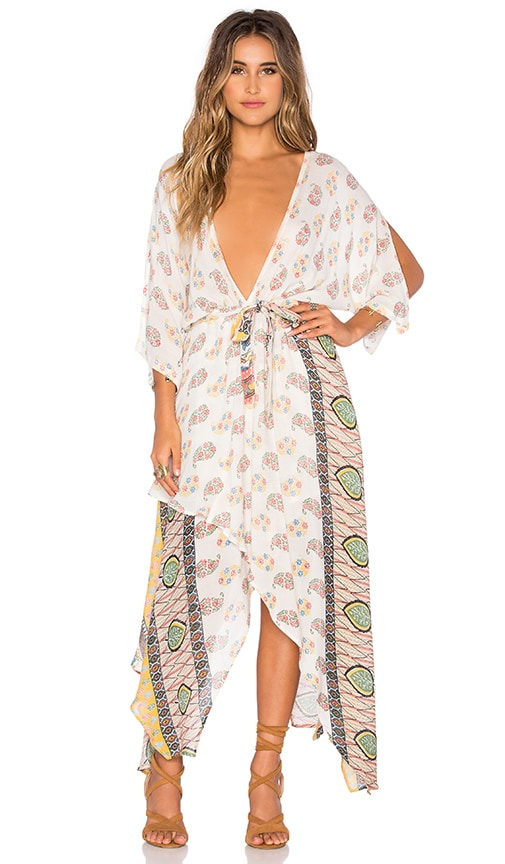 Raga Golden Hour Wrap Dress in Ivory