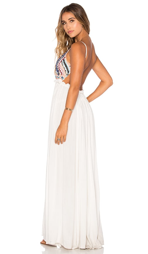 Raga Baja Sunset Backless Dress in White