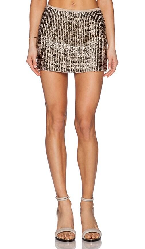 Raga Glitz & Glam Mini Skirt in Brown