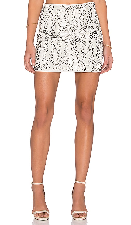 Beaded Mini Skirt