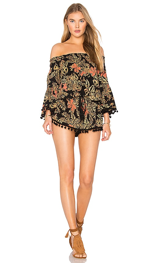 Raga Island Fever Romper in Black