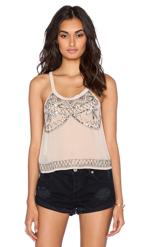 Raga After Hours Tank in Beige