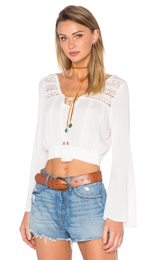 Raga Down the Highway Top in White
