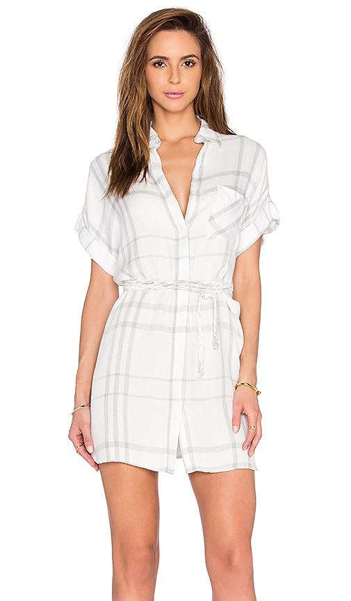 Rails Savannah Button Down Dress in White