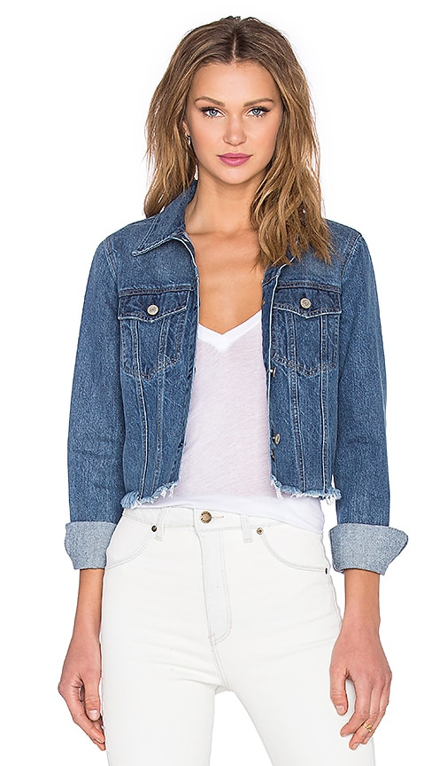 Rails Isla Cutoff Jean Jacket in Dark Vintage Wash