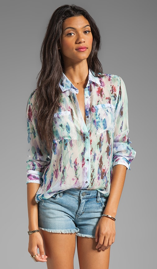 Kate Silk Button Down