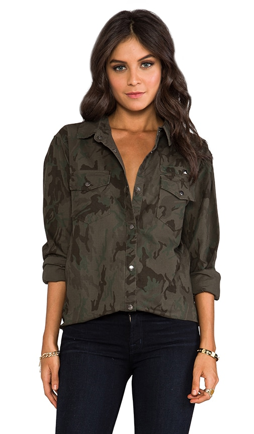 Erin Camo Shirt Jacket