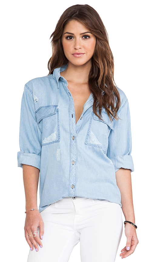 Brendan Boyfriend Denim Button Down