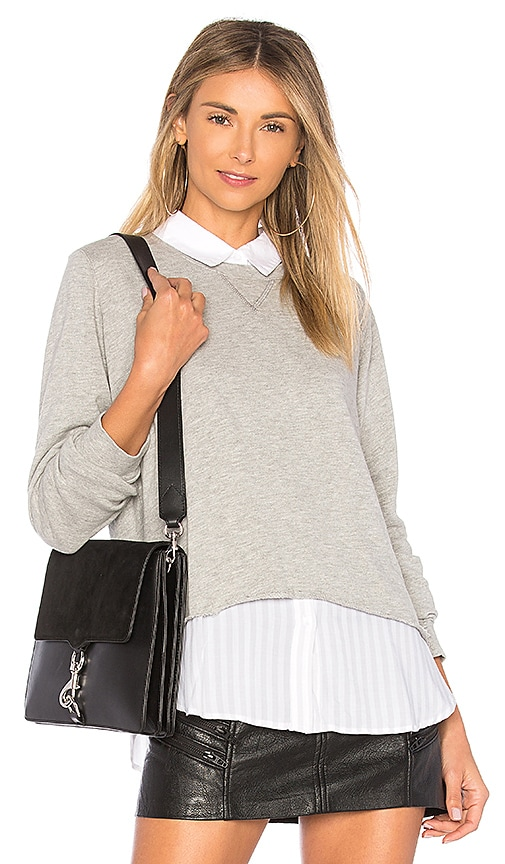 Rails Edson Layered Top in Gray