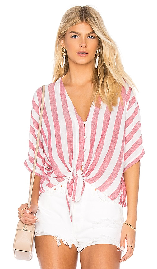 728c02877 Rails Thea Tie Front Button Up in Seville Stripe | REVOLVE