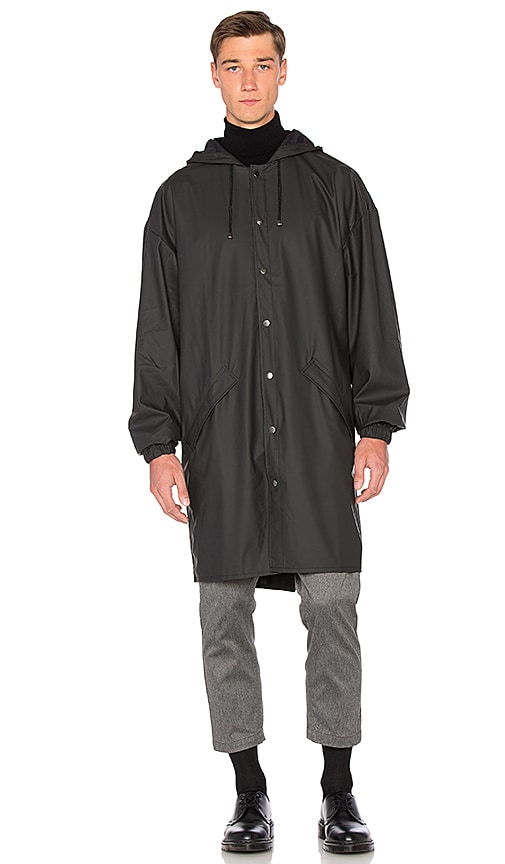 Rains Loose Fit Jacket in Black