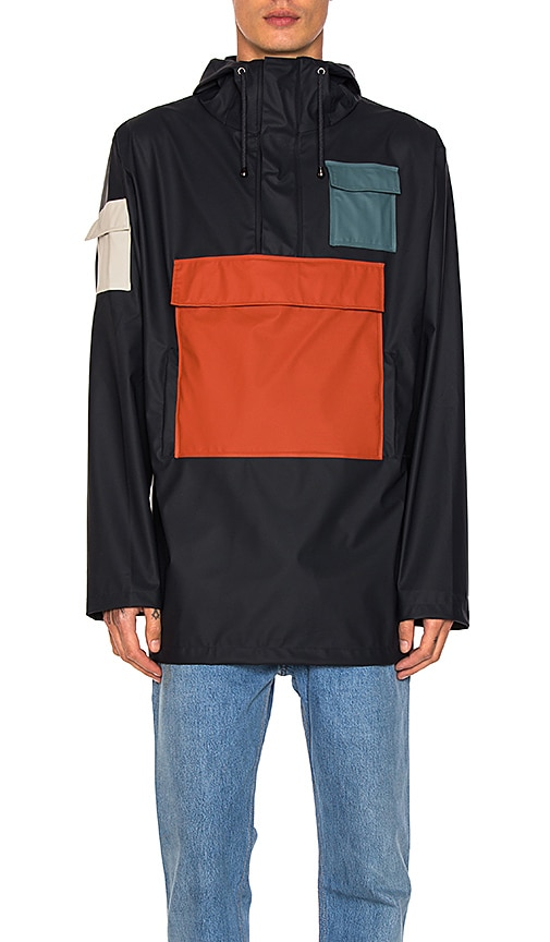 Rains Camp Anorak in Navy