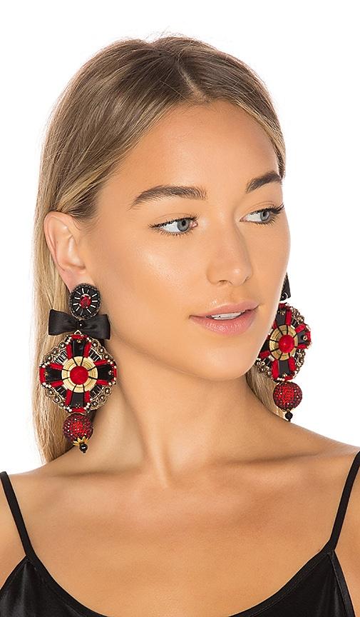 Ranjana Khan Pendant Earring in Red