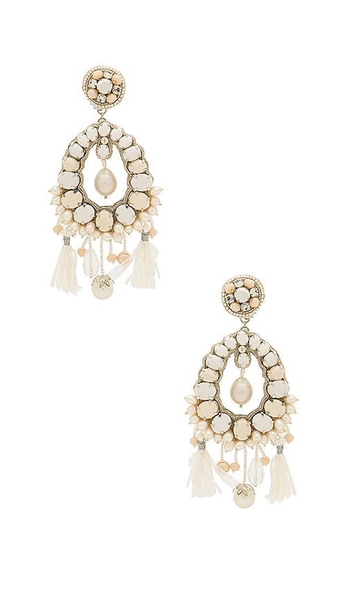Ranjana Khan Pearl Drop Earring in White