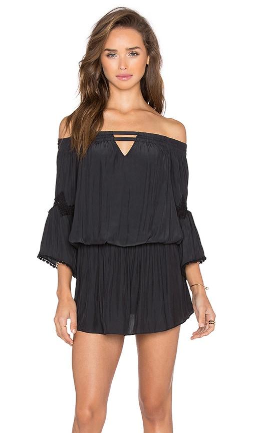 RAMY BROOK Nicci Off the Shoulder Dress in Black