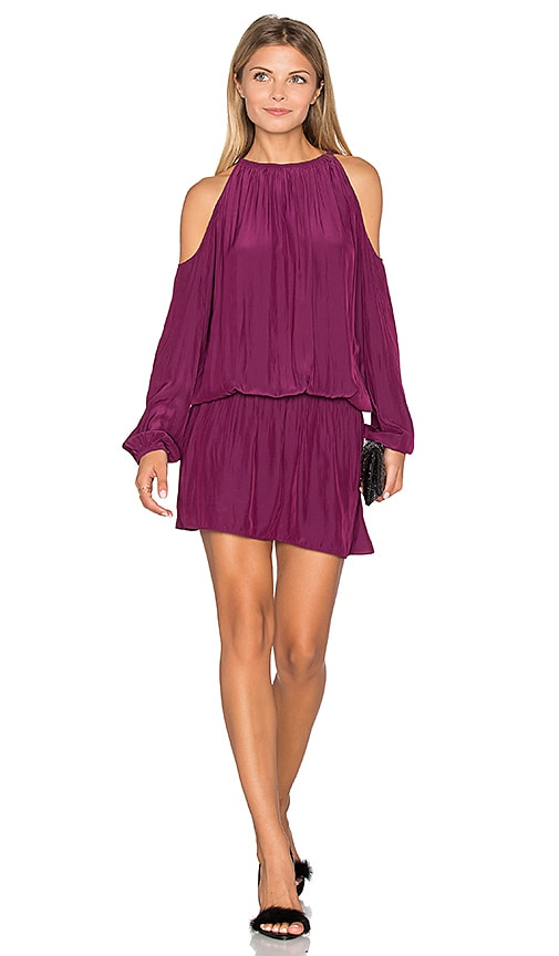 RAMY BROOK Lauren Cold Shoulder Dress in Purple