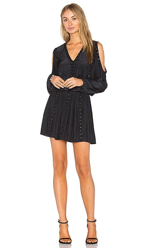 RAMY BROOK Maisie Embellished Cold Shoulder Dress in Black