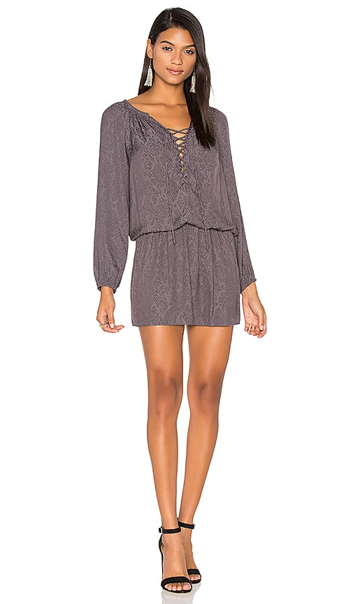 RAMY BROOK Snake Jacquard Alexandra Dress in Charcoal