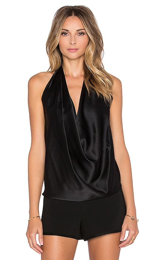 RAMY BROOK Harriet Halter Tank in Black