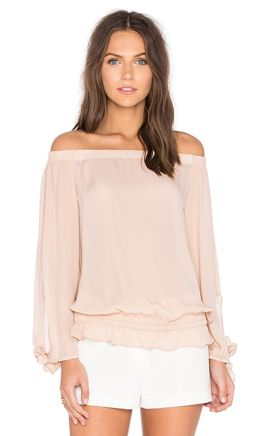 RAMY BROOK Jenny Off the Shoulder Top in Blush