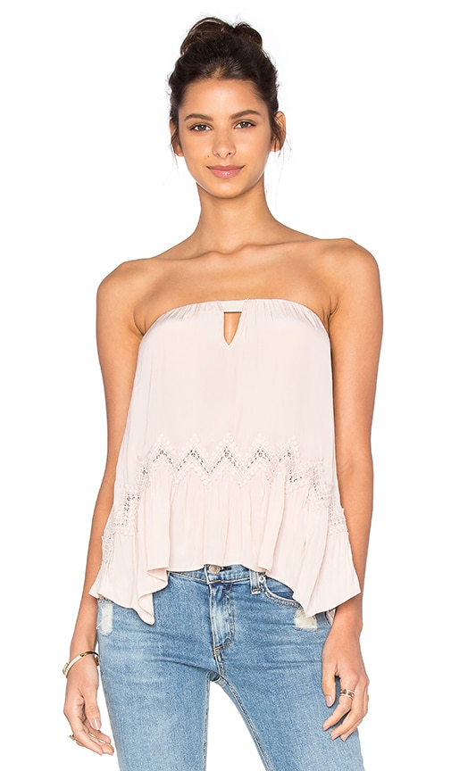 RAMY BROOK Lina Strapless Top in Blush