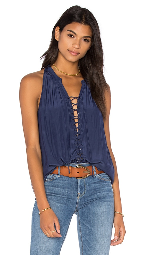RAMY BROOK Patricia Tank in Navy