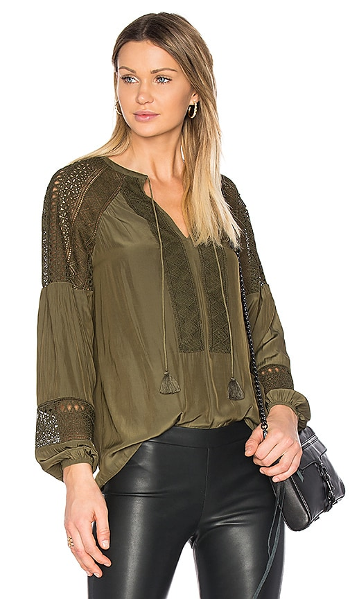 RAMY BROOK Whitney Blouse in Green