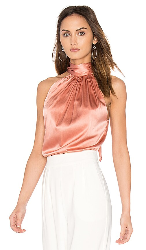 RAMY BROOK Paige Tie Neck Tank in Pink