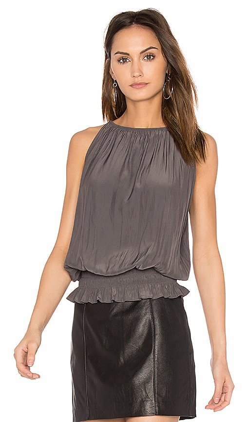 RAMY BROOK Sleeveless Lauren Top in Gray