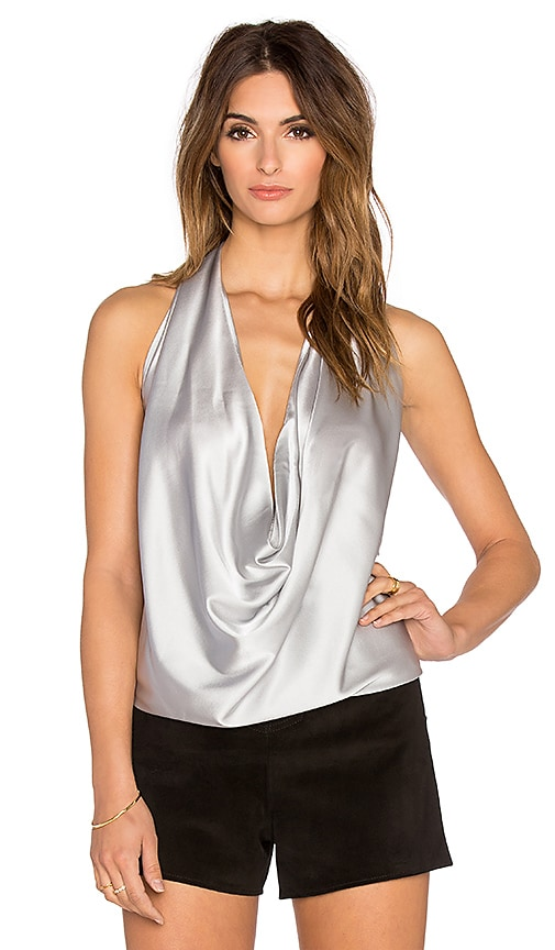 RAMY BROOK Harriet Halter Tank in Winter Silver