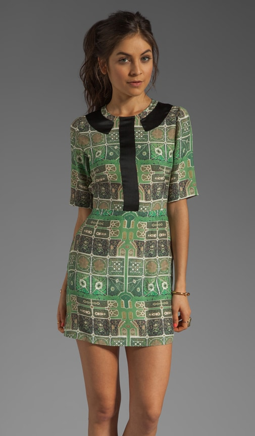 Miriam Printed Silk Dress