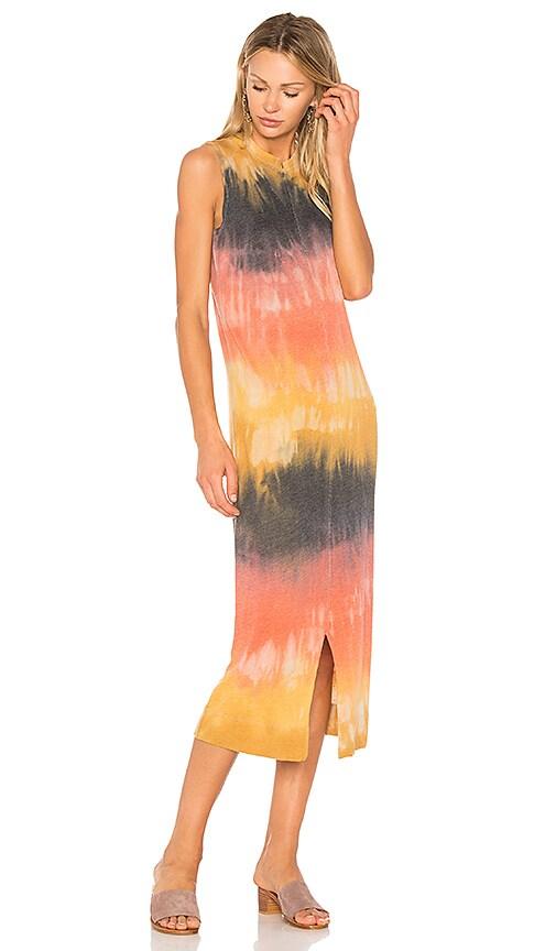 Raquel Allegra Split Muscle Tee Dress in Yellow