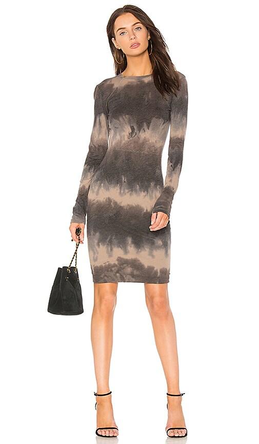 Raquel Allegra Mandarin Fitted Dress in Gray
