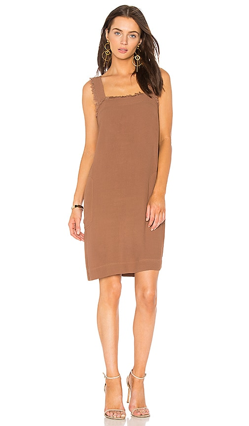 Raquel Allegra Mini Tank Dress in Brown