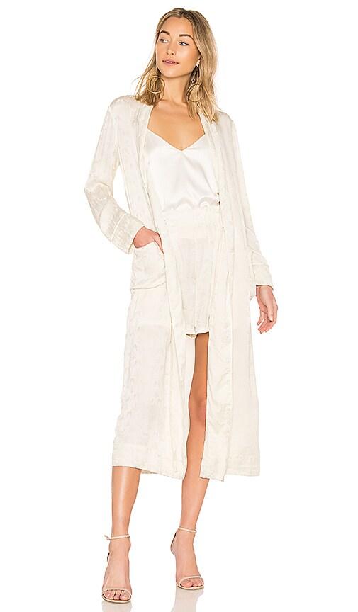Raquel Allegra Robe Dress in Ivory