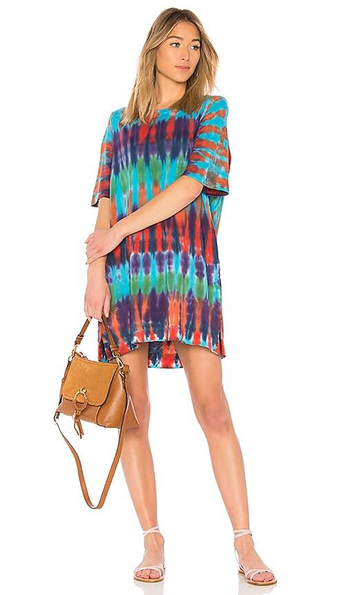 1022d7b409edb Raquel Allegra T Shirt Dress in Rainbow Nation Tie Dye