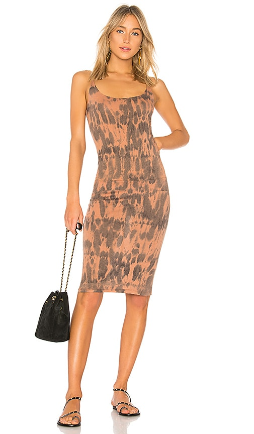 Raquel Allegra Layering Tank Dress in Burnt Orange
