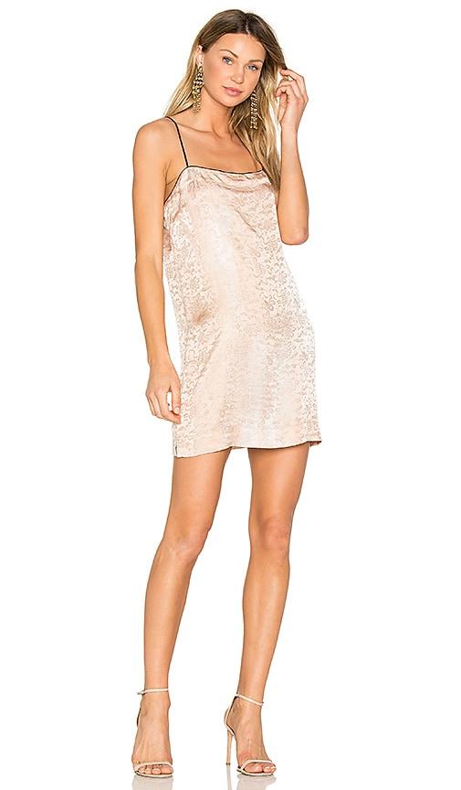 Raquel Allegra 90's Mini Dress in Blush