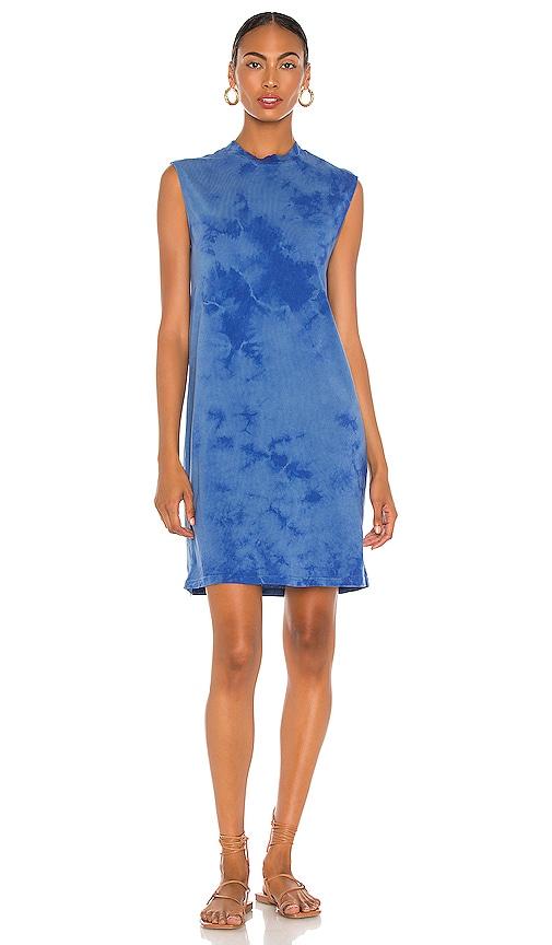 Raquel Allegra X REVOLVE Mock Muscle Mini Dress in Blue Tie Dye   REVOLVE