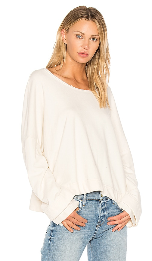 Raquel Allegra Double Sleeve Pullover in Ivory