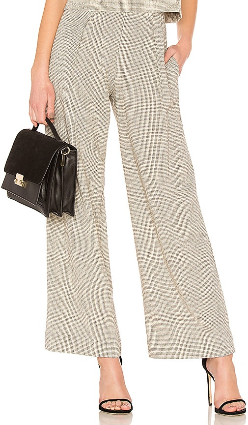 Raquel Allegra Pajama Pant in Light Gray