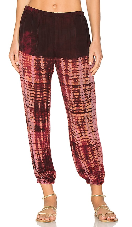 Raquel Allegra Silk Sweatpant in Red