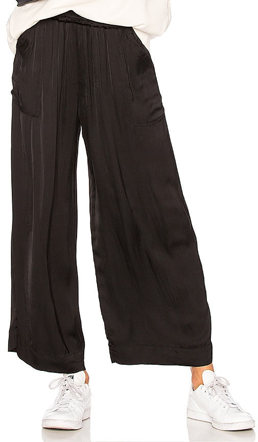 Raquel Allegra Wide Leg Pant in Black