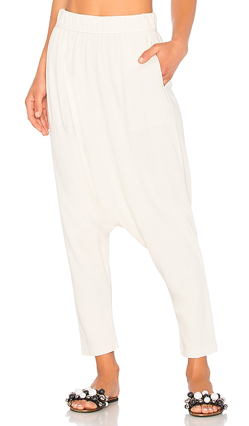 Raquel Allegra Cropped Slouchy Pant in White